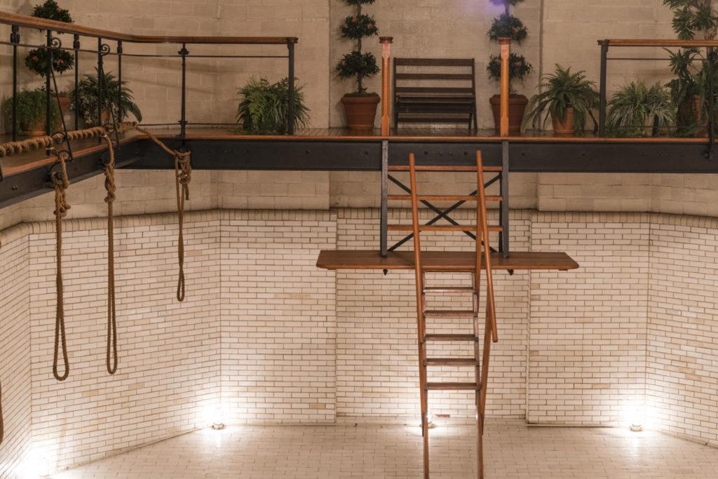 Empty indoor pool at the Biltmore